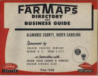 Title Page, Alamance County 1954